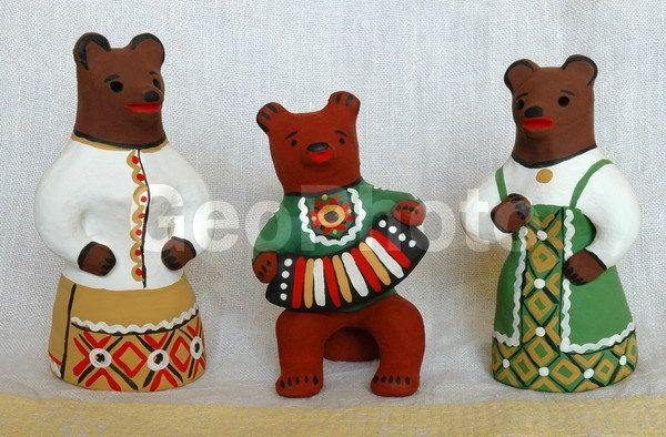Kargopol toys are moulded painted clay figures of people and animals. It is one of the old Russian folk art handicrafts, which is produced in and around the town of Kargopol, Arkhangelsk Oblast, in the north of Russia.[1] It started in the 19th century in the areas west of Kargopol. The potters were not professionals, but just peasants who made toys in their spare time....