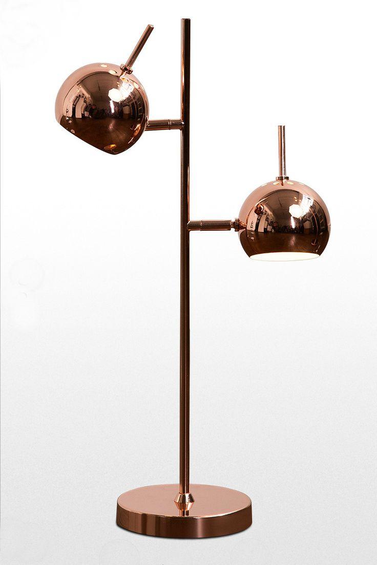 Austin Tischlampe Aus Kupfer Inspiriert Von Den Space Age Interieurs Der 60er Die Lampe Lasst Sich Verstellen Und Sorgt Fur Um Kleine Tischlampe Lampe Lampen