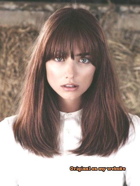Bob Hairstyles 2019-The classic, long bangs will always dominie the hairstyles