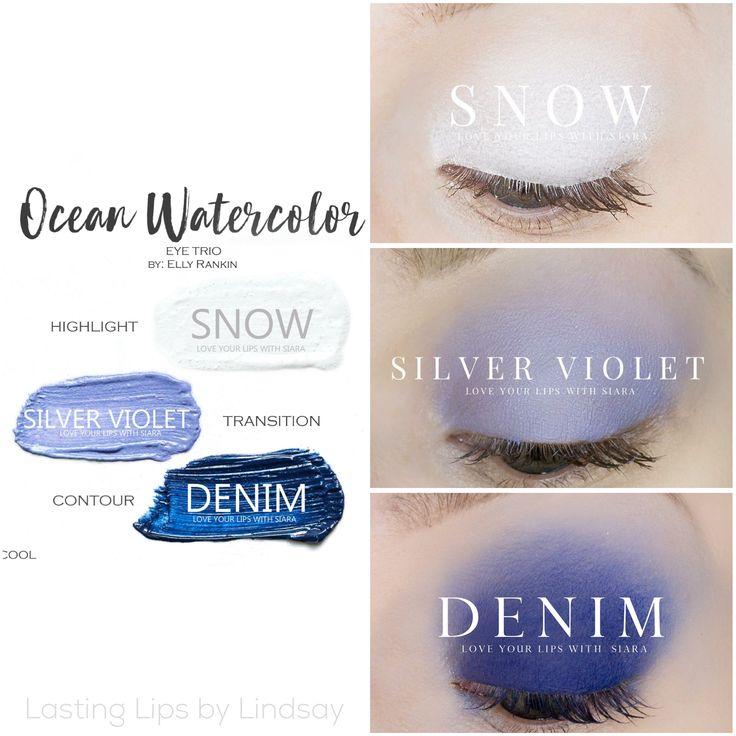 Eyeshadow trio using SeneGence ShadowSense colors in Snow, Silver Violet and Denim. Smudge proof, waterproof, crease-proof, long-lasting eyeshadow. Cream to powder eyeshadow. Cruelty free makeup | Makeup look | Makeup how to | Makeup tutorial | long-lasting makeup | LipSense | LipSense distributor | www.lastinglipsbylindsay.com | Insta @ lastinglips_by_lindsay | Bella | Blackberry | Violet Volt | Silver Shimmer | Mulberry | Granite | beauty | step-by-step eyeshadow look