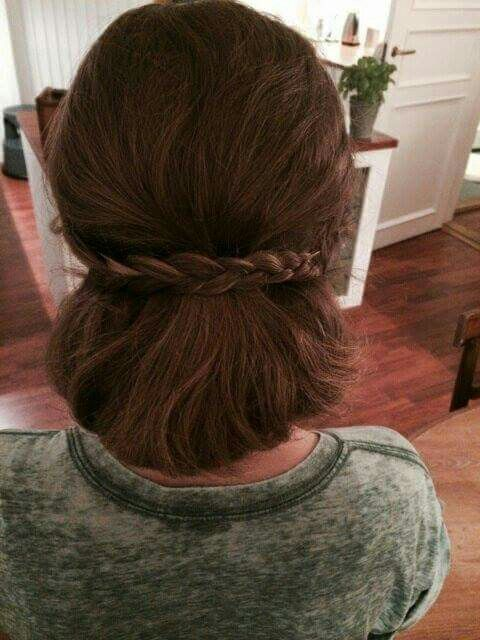 Updo with small braid