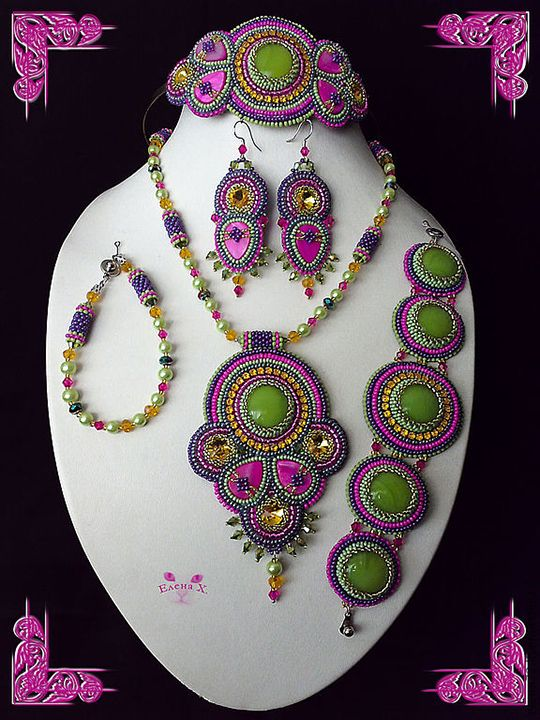 Beautiful jewelry by Elena Hmelevskaya | Beads Magic