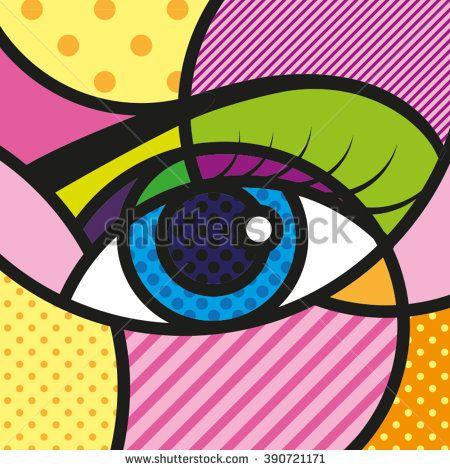 POP ART Eyes Vector Illustration.