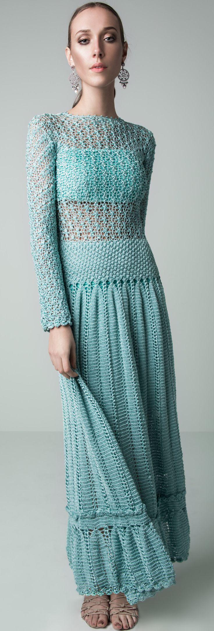 Inspiration...Giovana Dias - crochet maxi dress