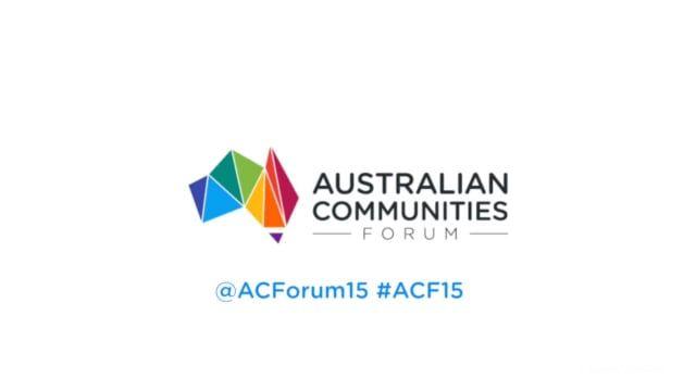 Australian Communities Forum, Sydney November 13, 2015