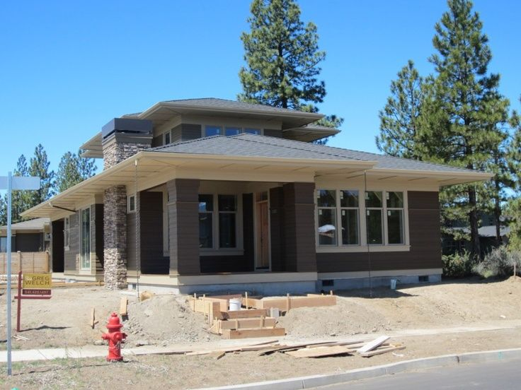 praire style homes | Prairie Style House Plan - Northwest Crossing | Craftsman style