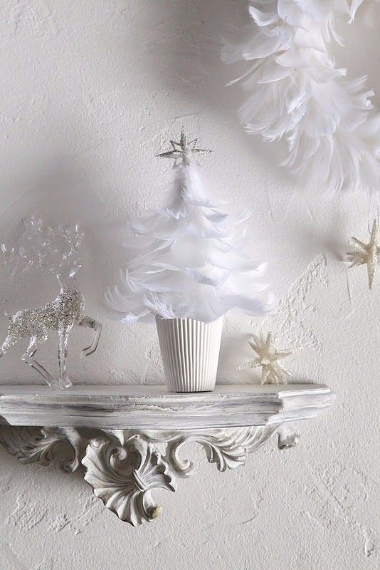 ■真っ白なホワイトフェザーでクリスマスツリーを作りました。トップのスターに光が当たると、シルバーのラメがキラキラ光ってとても綺麗です。聖なる夜に・・・今年はホワイトクリスマスで♪(※写真の撮影小物は商品には含みません。)同じフェザーで作ったリースも販売しております(^^)https://www.creema.jp/item/3128488/detail「creemaクリスマス2016」『クリスマスハンドメイド2016』■サイズ:高さ約22㎝・直径約15㎝(最大)■こちらは受注製作でお届けまで一週間ほどお時間いただいておりますが、お急ぎの方は先にメッセージで納期をご確認ください。できる限り対応させていただきます。■一つ一つ手作りで制作しています。…