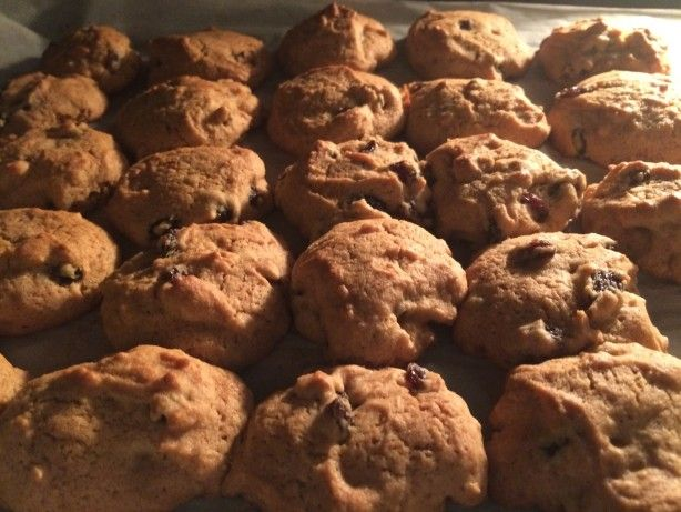 I got this recipe from my mom, who got it from her mom. These are the best raisin cookies I have ever had. They stay very soft! Most people look skeptical of raisin cookies until they try these, and then they ask for the recipe.