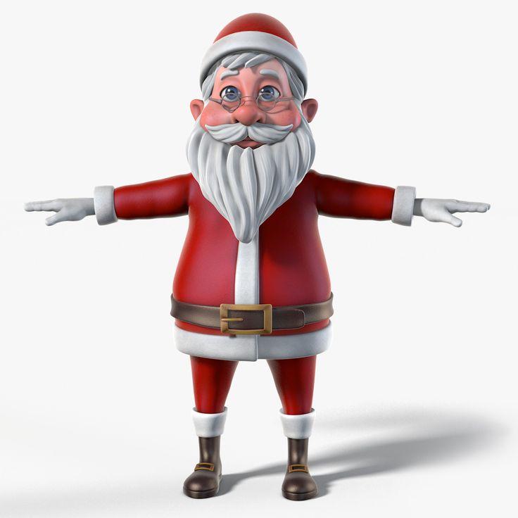 Santa Cartoon 3D Model - 3D Model