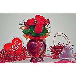 Valentine Day Decor, Heart Floral Arrangement Table Decoration, Declaration of Love, Ready to Ship!