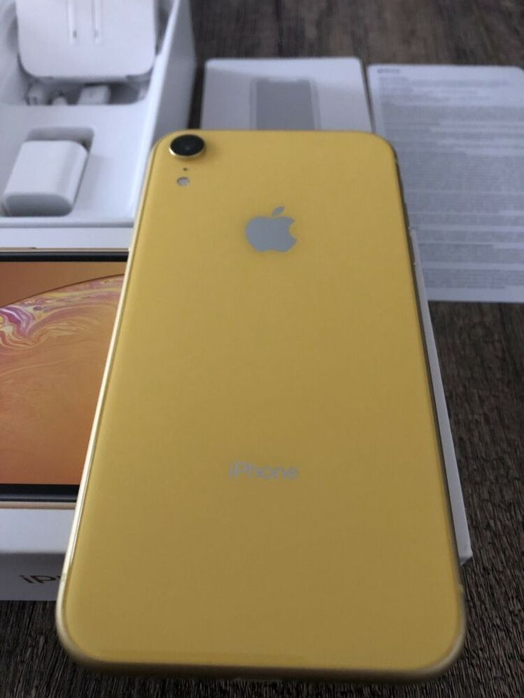 Apple iphone xr 64gb yellow att excellent condition