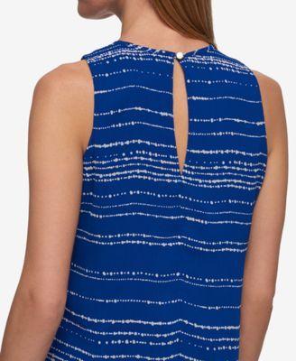 Tommy Hilfiger Printed Trapeze Dress - Blue 18