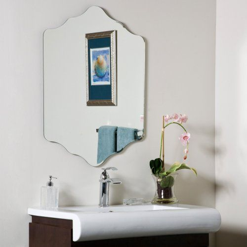 Vandam Modern Frameless Bathroom Mirror - 23.6W x 31.5H in. - Wall Mirrors at Hayneedle