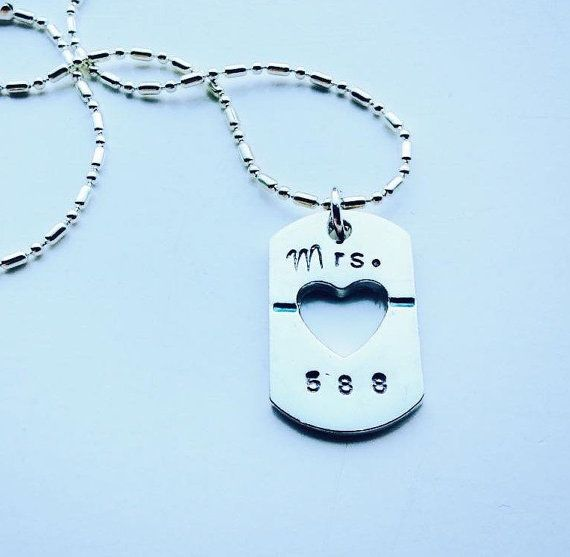 I Love My Cop Necklace by blessingsandbrass on Etsy