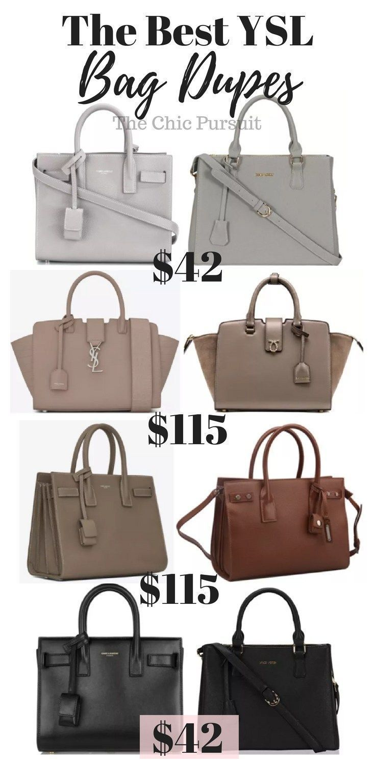 The ULTIMATE Guide To YSL Bag Dupes Under  120!  93399f321d39a
