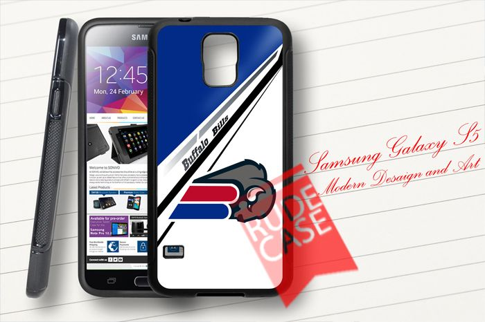 Samsung Galaxy S5 Custom Buffalo Bills NFL Rubber Case