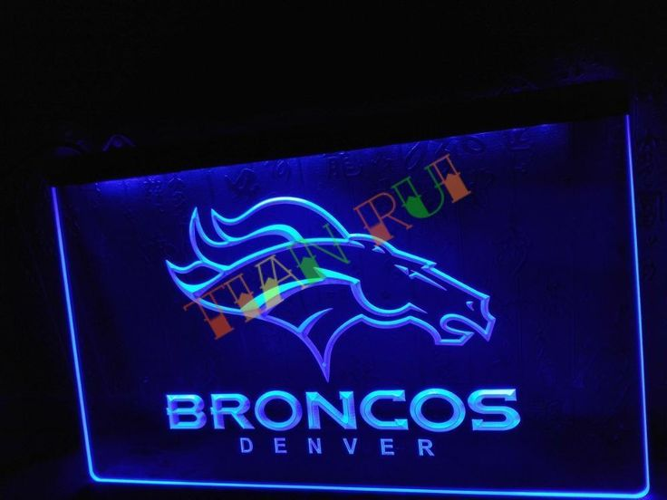 LD067- Denver Broncos Bar Pub Logo LED Neon Light Sign Man Cave #Unbranded #NewClassicalPostmodern
