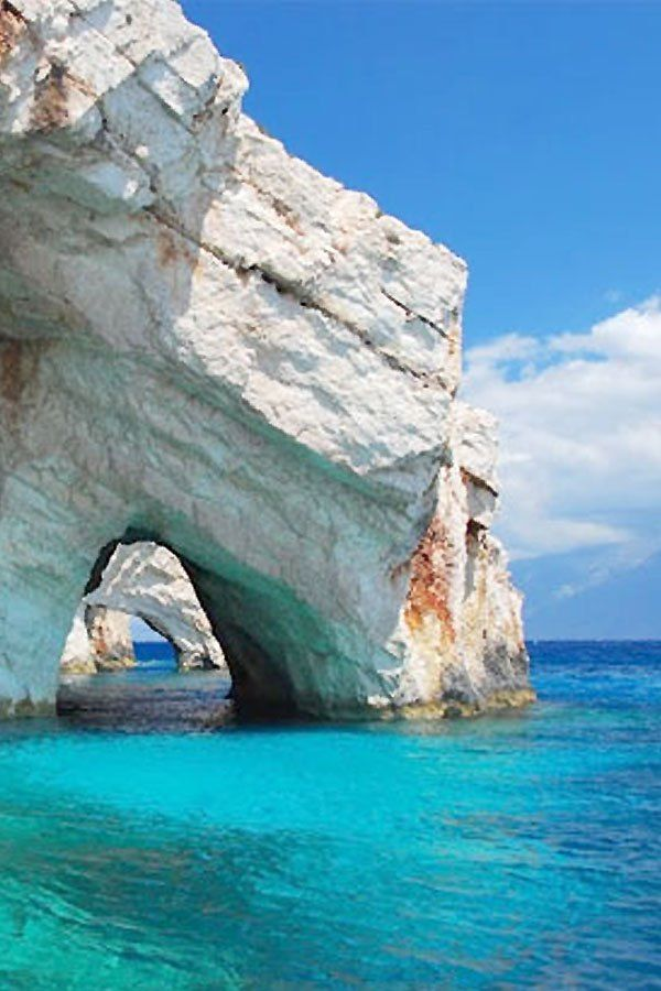"Along with Ireland and Spain (those two just to see my ""heritage roots""), Greece is a beautiful country (from pics anyway lol) and I have always longed to Greece and her sights in person.  ✯ Blue Caves - Zakynthos, Greece"