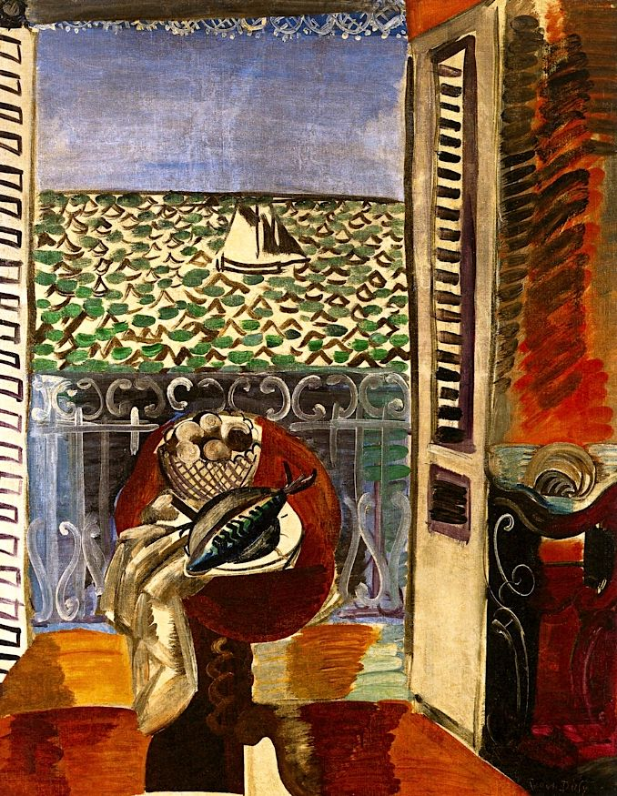 Raoul Dufy, View through a Window, Nice, 1925, oil on canvas, Collection of Dixon Gallery and Gardens