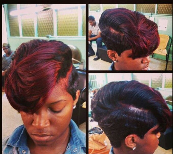 Burgundy Bang And Short Cut Iest Hairstyles Pinterest Hair Styles