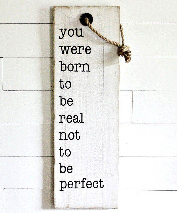 """""""You Were Born"""" Hanging Tag Style Wall Sign"""