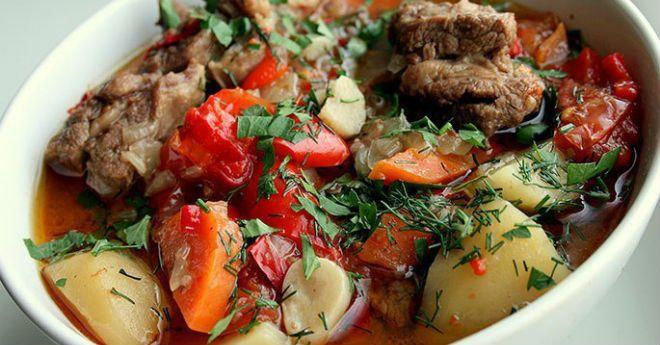 Хашлама из говядины с картофелем. Сытное армянское блюдо