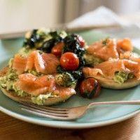 Regal Artisan Salmon Breakfast Bagels with Watercress Scramble