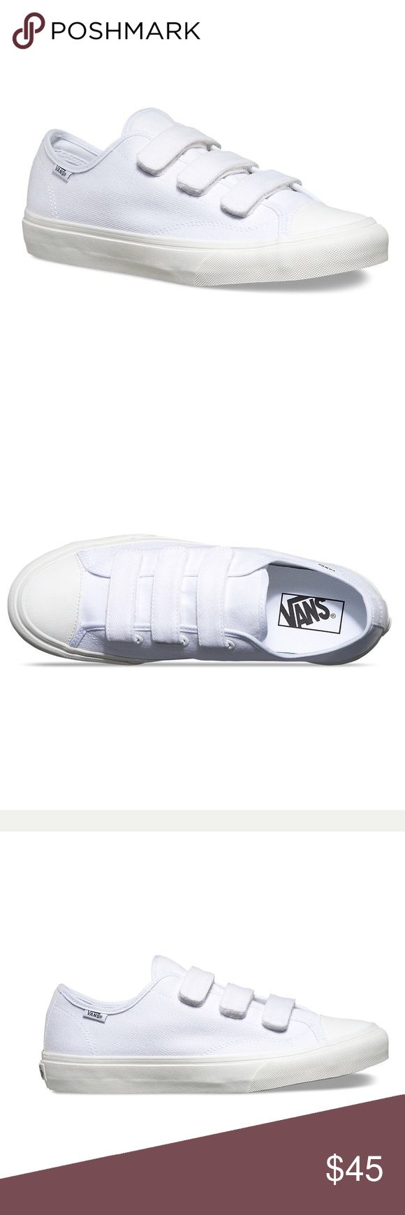 Vans Prison Issue Vans Prison Issue. Velcro straps. White canvas with white leather cap toe.  Unisex. Men's size 5.5 Women's size 7. Brand new with box Vans Shoes Sneakers