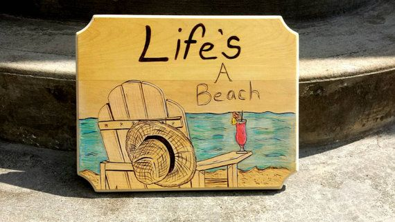 Life's a beach Ocean Quote Summer by RusticCharmbyRachel
