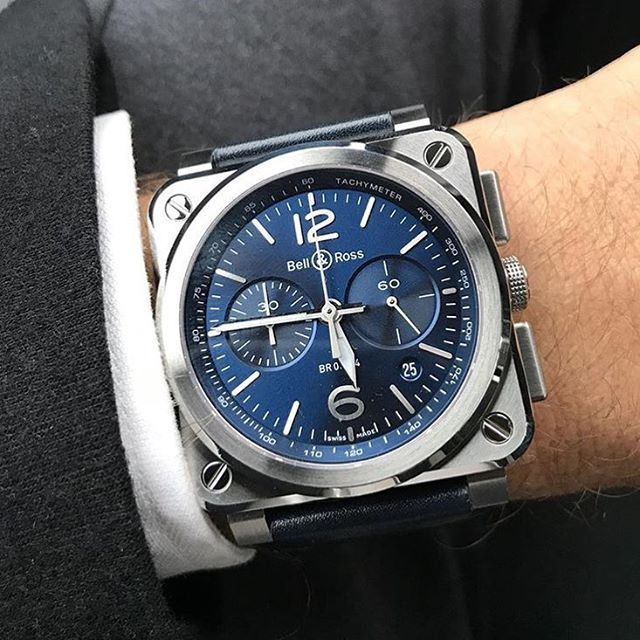 Bell&Ross New BR03-94 in Sunburst Blue dial.