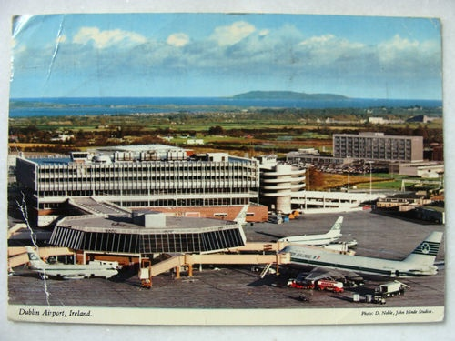 Dublin Airport, airside view of Terminal 1 from 1975