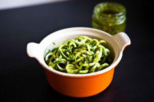 Spaghettied courgette