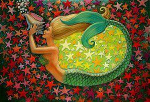 Mermaid Painting - Mermaid's Circle by Sue Halstenberg