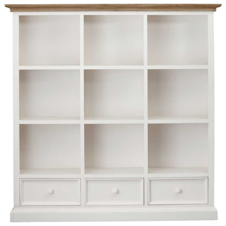 Mansfield 3 Drawer Bookcase White