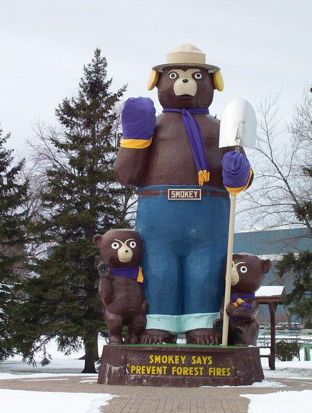 International Falls, MN : Smokey Bear Park.  LOTS of childhood memories visiting here.  Mom's home town