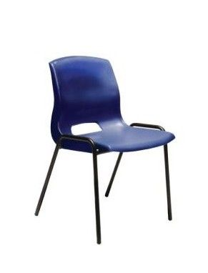 A universal stacking chair with a strong, robust frame and a durable polypropylene seat and back #seated #quad #stacking  #chair seated.com.au