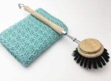Hæklet karklud i Silt Stitch mønster