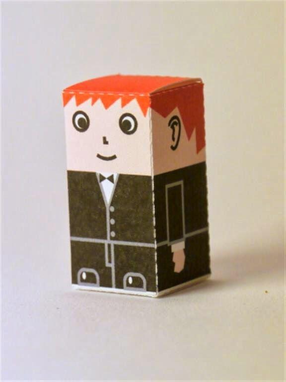 kerajinan gunting/tempel anak TK/SD, membuat sendiri kotak souvenir permen, pria dengan jas
