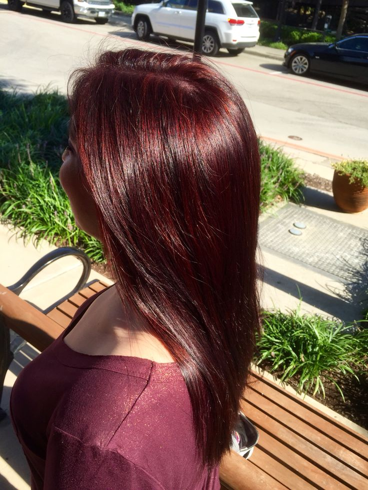 Cherry Coke Fall hair color