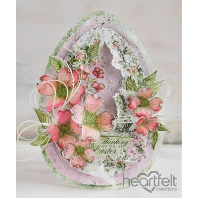 Heartfelt Creations - Dogwood Easter Egg Card Project