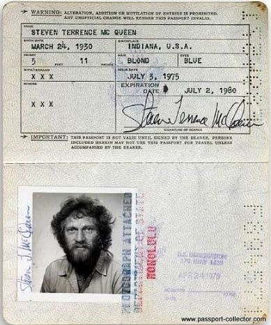 Steve McQueen. i wish my hair did that on my drivers license