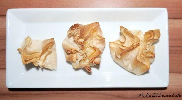 Mini Lachstaschen Filoteig Lachs Fingerfood Rezept
