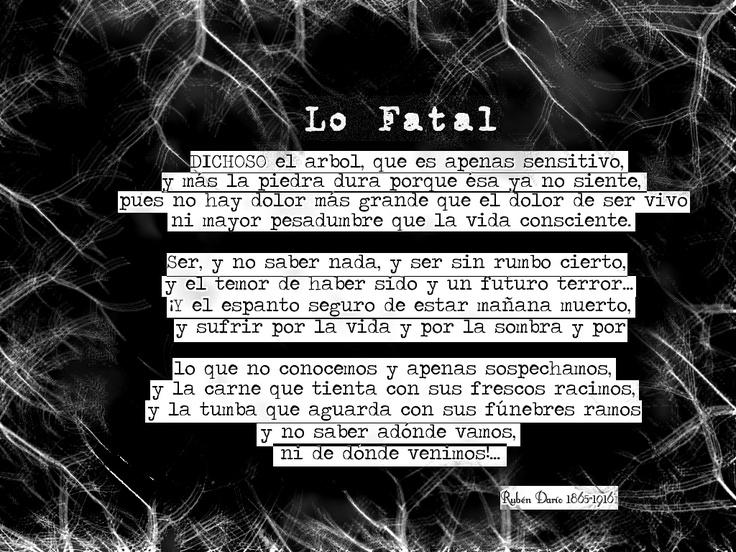 Lo Fatal / Ruben Dario