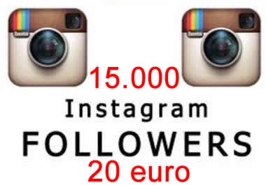 15.000 Instagram followers 20 euro    http://www.smukke.it/15000-instagram-followers-20-euro/