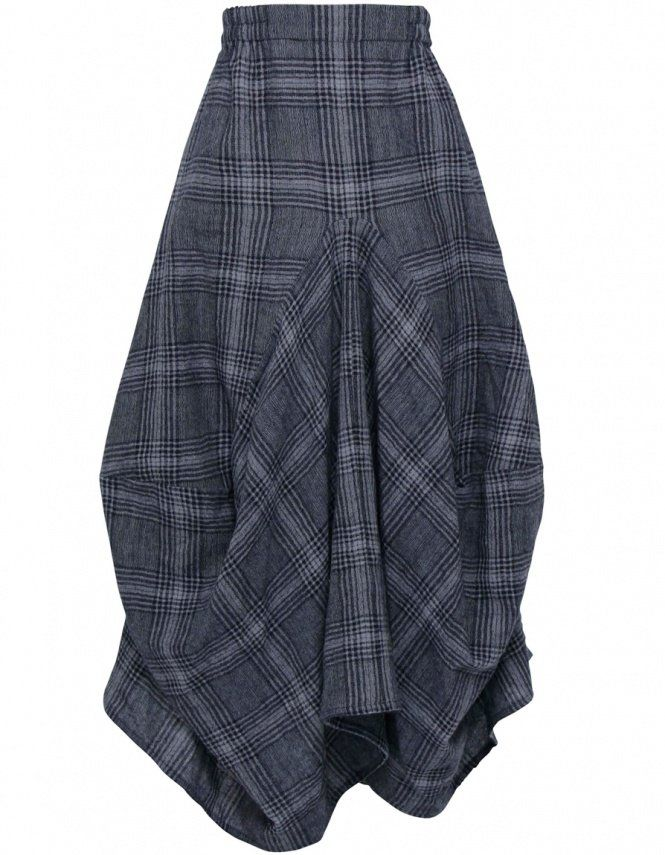 Grey Check Skirt