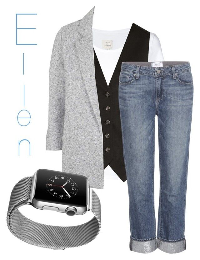 """""""Ellen Degeneres"""" by frosted-tree on Polyvore featuring Max 'n Chester, Temperley London, Topshop, Paige Denim, Apple, women's clothing, women, female, woman and misses"""