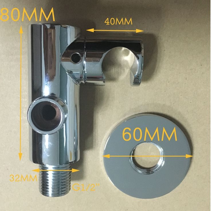 Christmas Day Promotion Merdeka Bathroom Chrome Round Hand Held Shower Head Holder WITHOUT Water Inlet ST001