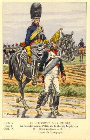 French; Imperial Guard, Gendarmes d'Elite, Eleve Gendarme, Tenue de Campagne, 1814