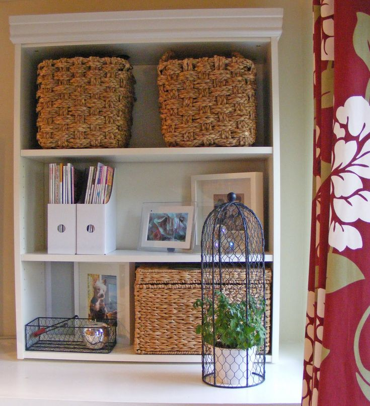 C   Bookcase Staging  Using Rattan/natural Textures And Colors To Make A  Bookshelf