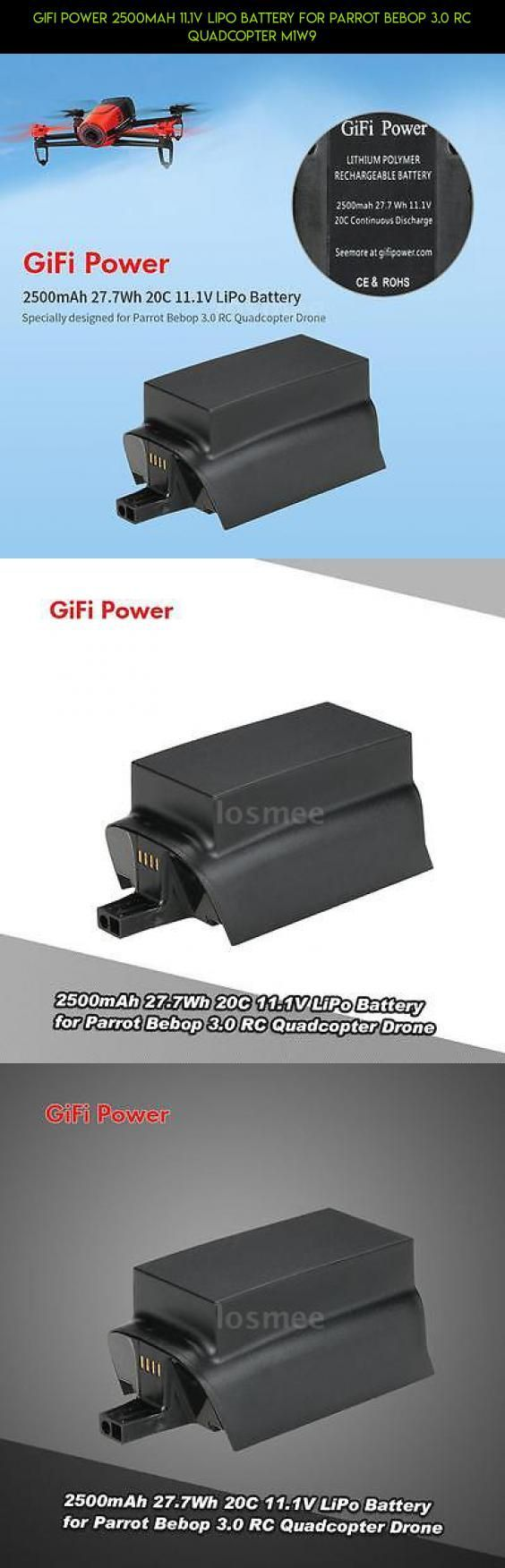 GiFi Power 2500mAh 11.1V LiPo Battery for Parrot Bebop 3.0 RC Quadcopter M1W9 #racing #3.0 #camera #technology #shopping #parts #fpv #gadgets #drone #products #tech #kit #parrot #plans